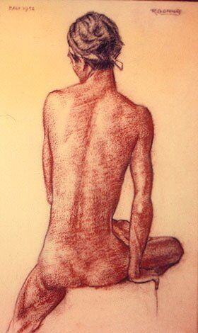 Drawing by Rudolf Bonnet