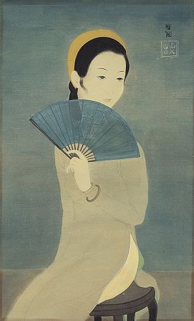 Mai Trung Thu, Lady with a Blue Fan, 1940