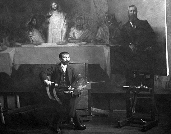 Pascal Dagnan-Bouveret in his studio